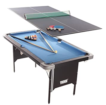 Tekscore Folding Pool Table With Table Tennis Top Amazoncouk - Table tennis and billiards table