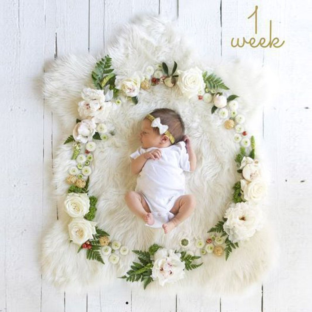 Amazon com funoc newborn baby photography props diy 3d flower home kitchen