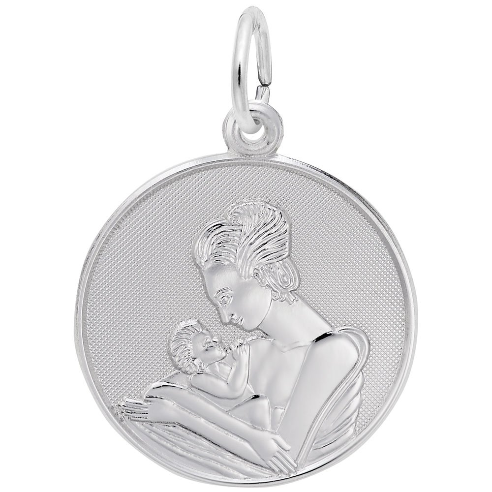 Mom and Baby Rembrandt Charms Engravable