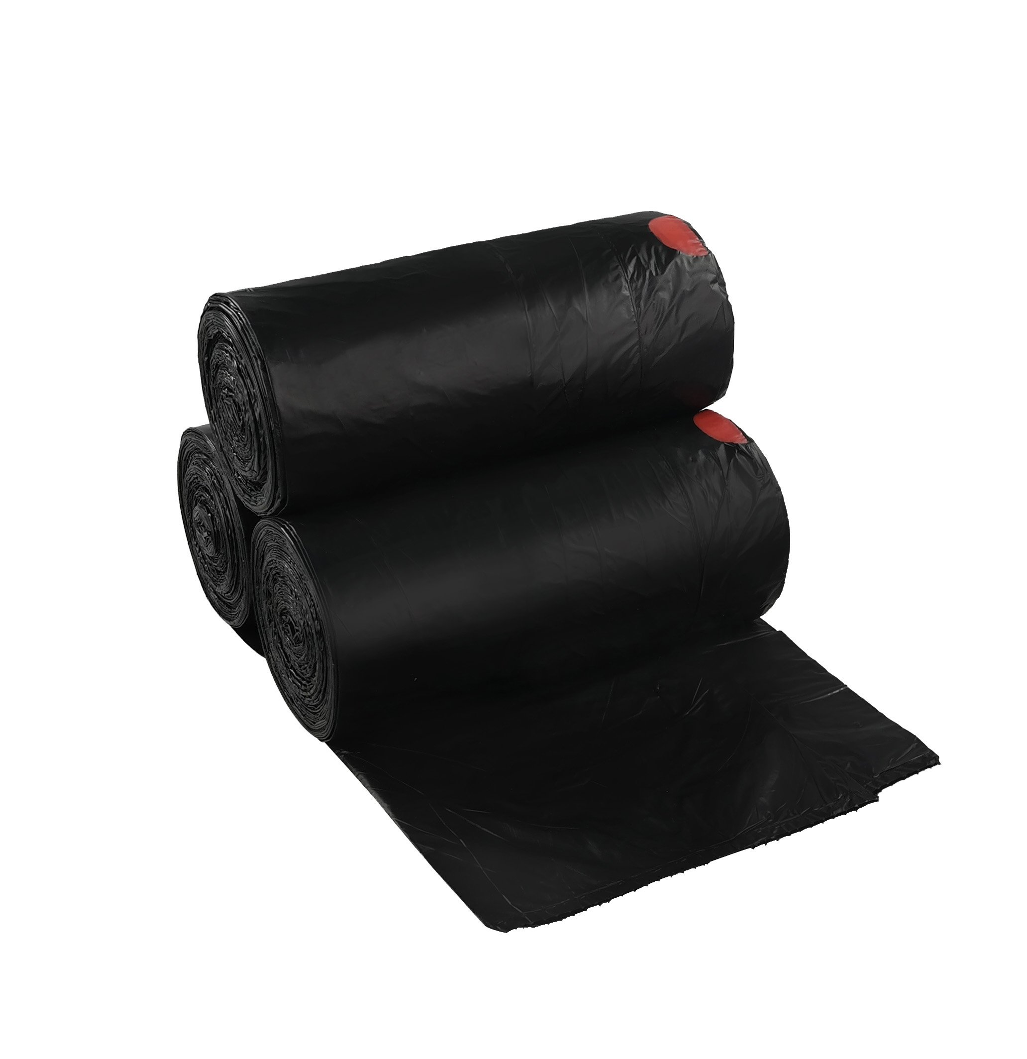 Begale 13 Gallon Drawstring Medium Trash Bags, Black, 110 Counts/ 3 Rolls by Begale