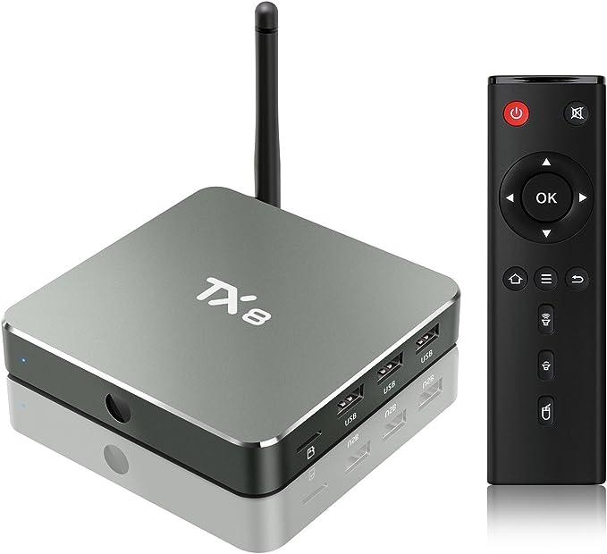TICTID TX8 Android 6.0 TV Box 2/32GB EMMC Amlogic S912 Octa core ARM Cortex-A53 CPU 5G+ 2.4G WIFI/ BT 4.1/H.265 DLNA /4K Smart tv box: Amazon.es: Electrónica