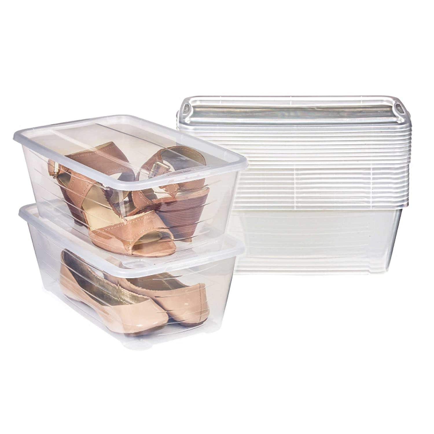 Set of 12 Stackable Shoe Boxes