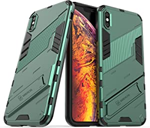 XIAYAN Phone Covers Protective Case for iPhone Xs MAX,Protective Shockproof Case Holder,to Protect The Camera,PC & TPU Mobile Phone Case Protective Cover Protective Cover Case Skin (Color : Green)