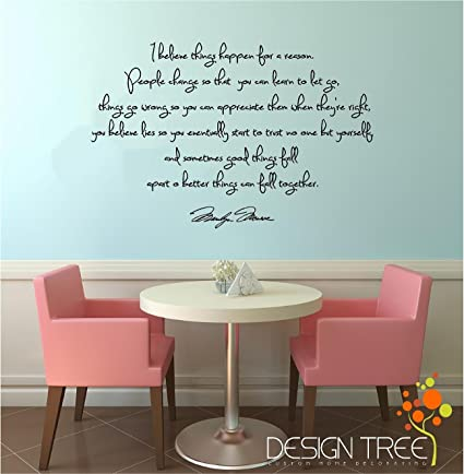 Click Down Marilyn Monroe Wall Decal Decor Quote I Believe Things Happen