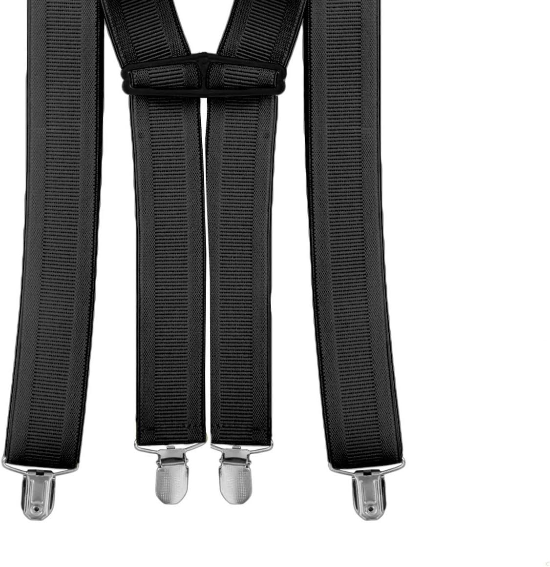 35mm 35mm Jean Pantalon Trimming Shop Homme /Élastique Bretelles Forme X Uni Bretelles R/églables avec Forte M/étal Clip pour Pantalons Bleu Marine