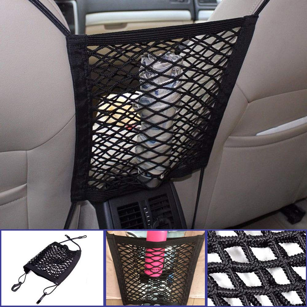 FidgetGear Mesh Cargo Net Truck Storage Luggage Hooks Hanging Organizer Holder Seat Bag
