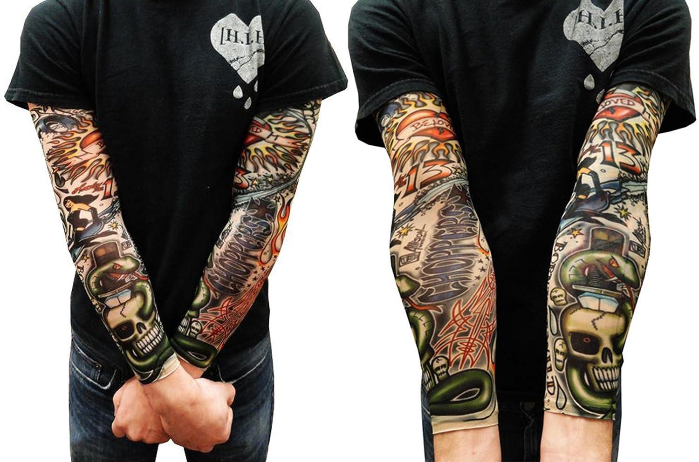 Kurtzy 6 Pcs Mangas Tatuajes Falsos Temporales Novedosas Tatuajes