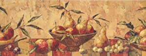 Faux Paint Pear Apple Plum Grapes BE10122B Wallpaper Border