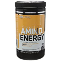 Optimum Nutrition Amino Energy Preworkout Energy Performance Supplement with Beta Alanine, Caffeine, Amino Acids and Vitamin C. Performance Supplement by ON - Peach Cranberry, 30 Servings, 270g
