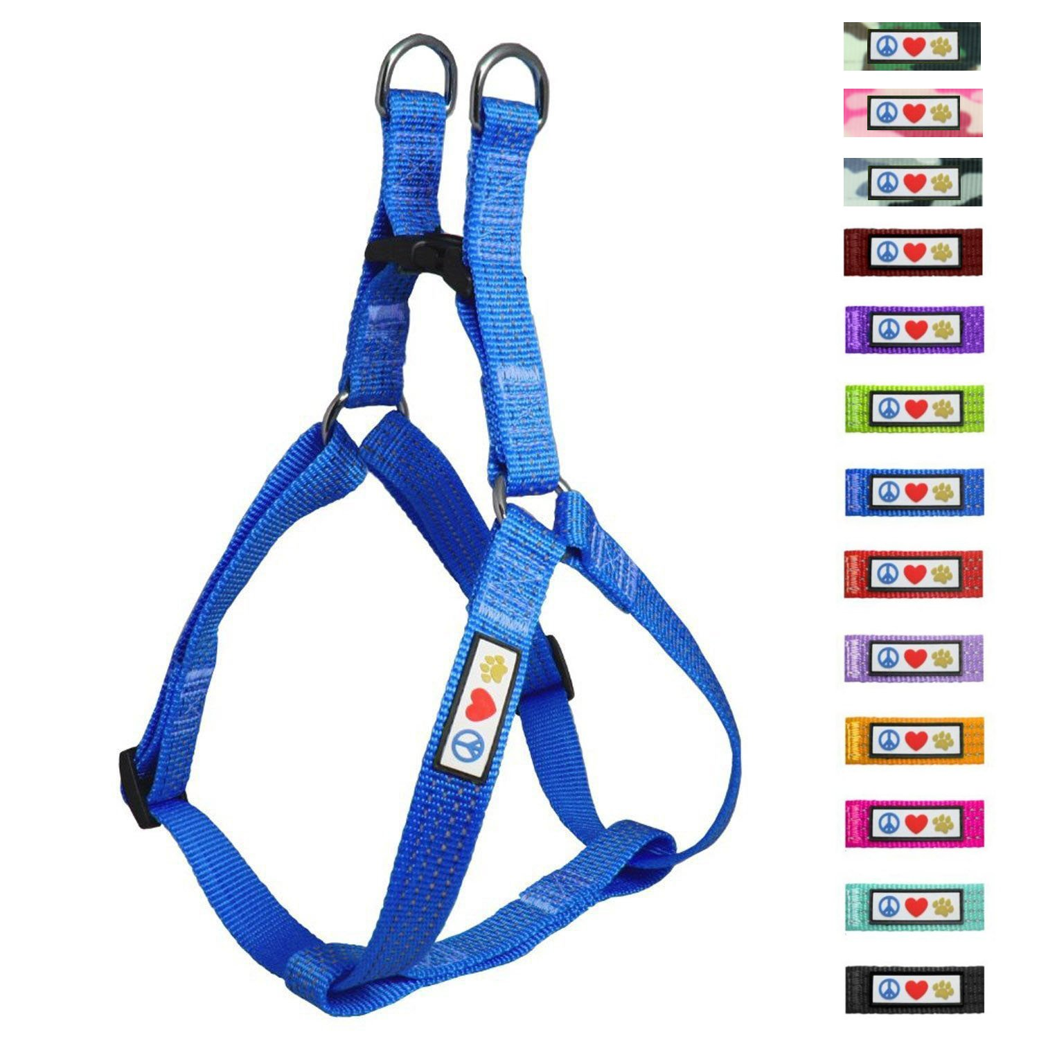 Pawtitas Pet Reflective Step in Dog Harness Reflective Vest Harness, Comfort Control, Training Walking Your Puppy/Dog Small Dog Harness S Blue Dog Harness