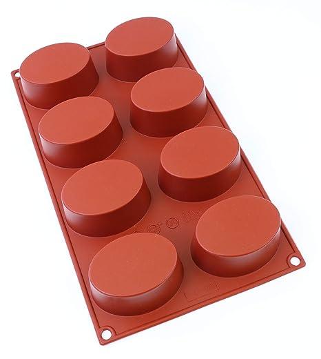 oggibox 8-cavity Oval silicona molde