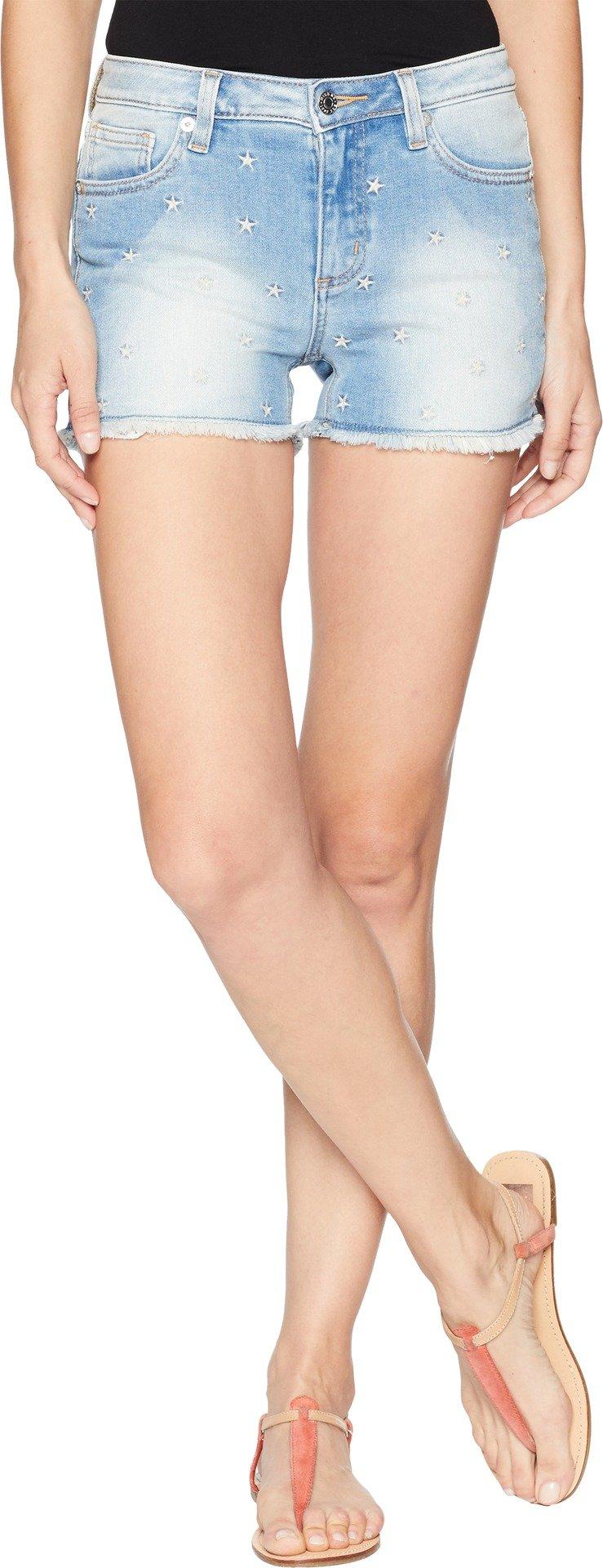 Miss Me Women's Americana Mid-Rise Denim Cutoff Shorts Blue 27