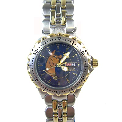 Warner Bros Silver and Gold Scooby Doo Watch w/ Date ( 2 Tone Bracelet Watch): Toys & Games