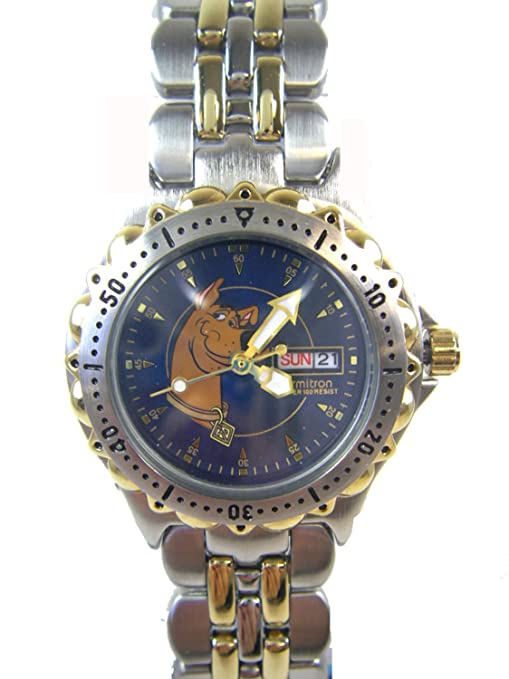 9df5ca3c121b Image Unavailable. Image not available for. Color  Warner Bros Silver and Gold  Scooby Doo Watch w  Date ( 2 Tone Bracelet Watch