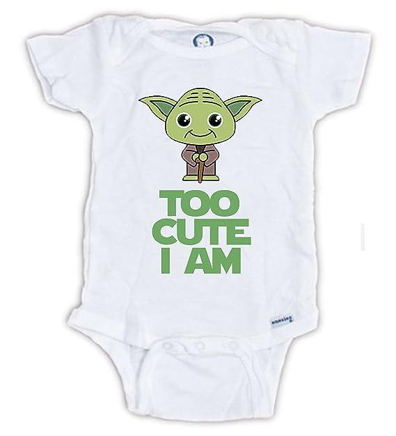 fa395dfed Star Wars Cute Yoda Baby Onesie, Baby Bodysuit, Yoda Onesie, Star Wars  Onesie