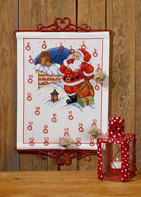 Calendario Dellavvento Punto Croce.Elfo Owl Calendario Dell Avvento Kit Punto Croce Amazon