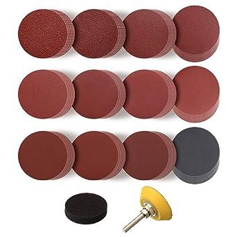 2/'/' 100pcs Roloc Sanding Disc Sanding Disc Pad Kit Loop Sander Shank Backing Pad
