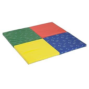 ECR4Kids 4-fold softzone manos y pies Active alfombra de juegos, multicolor