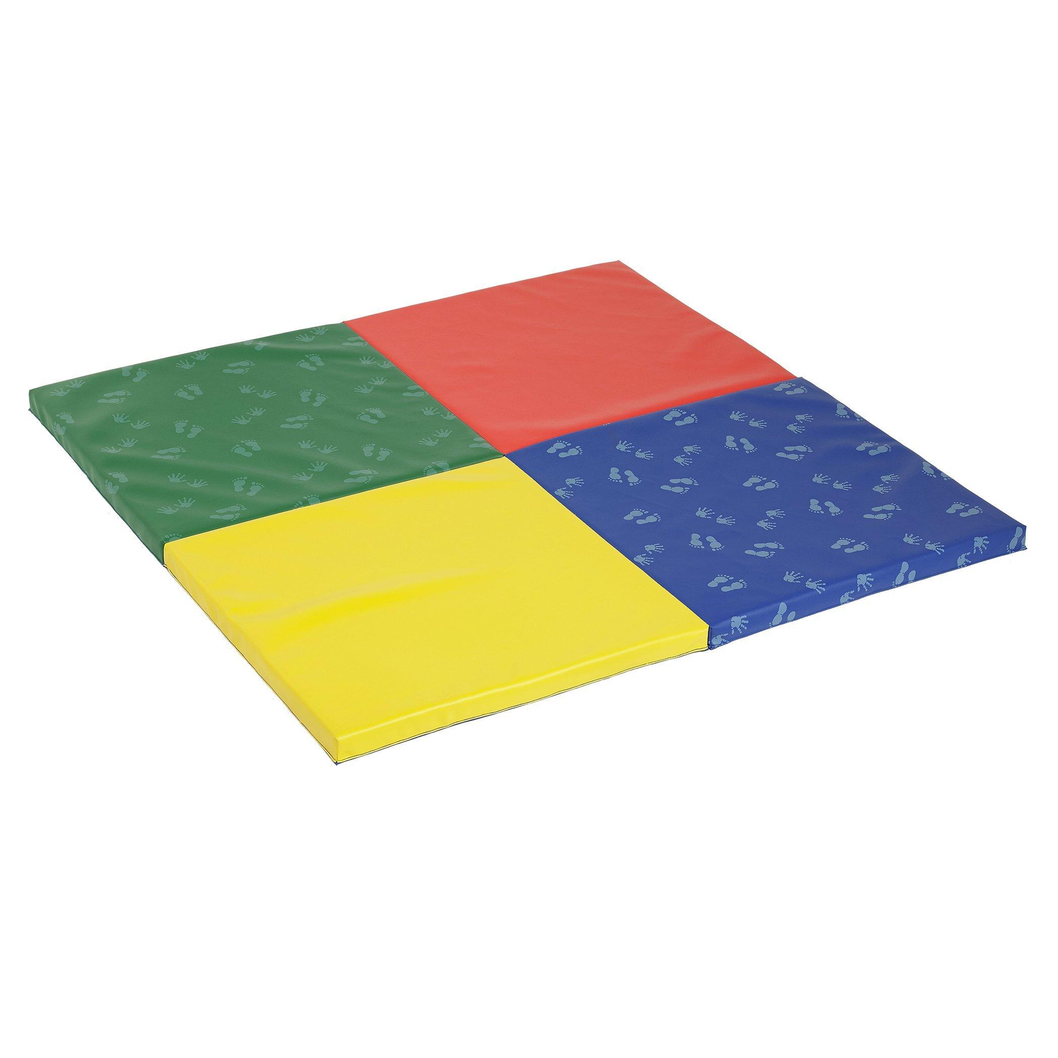 ECR4Kids SoftZone Hands and Feet Play Mat, 4-Fold, Assorted