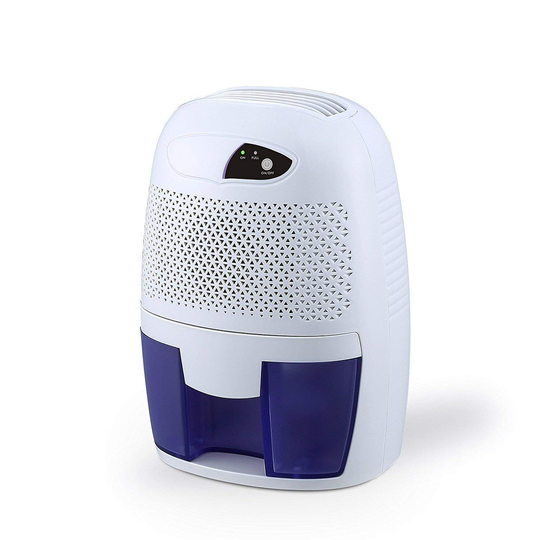 Dehumidifier, FociPow Compact Portable Electric Mini Dehumidifier for Living Room Bathroom Kitchen Garage