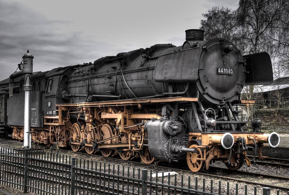 Old Train Art Print Canvas Poster,Home Wall Decor(13x20 inch)