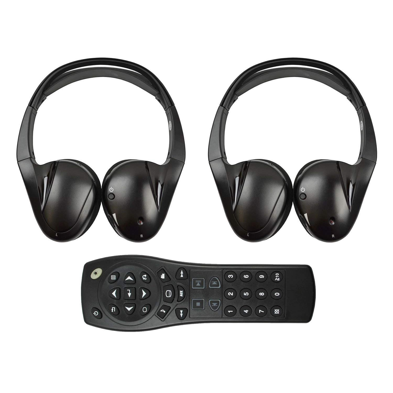 Wireless Headphones for the Buick Enclave (Model Years 2008 2009 2010 2011 2012 2013 2014).  2-Channel IR Headphones.