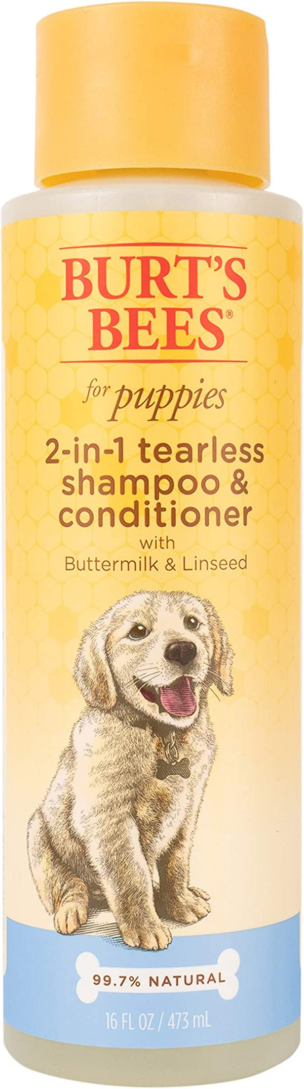 Burts Bees Puppy Tearless 2-in-1 Shampoo – Best Coat Cleansing Shampoo for Puppies