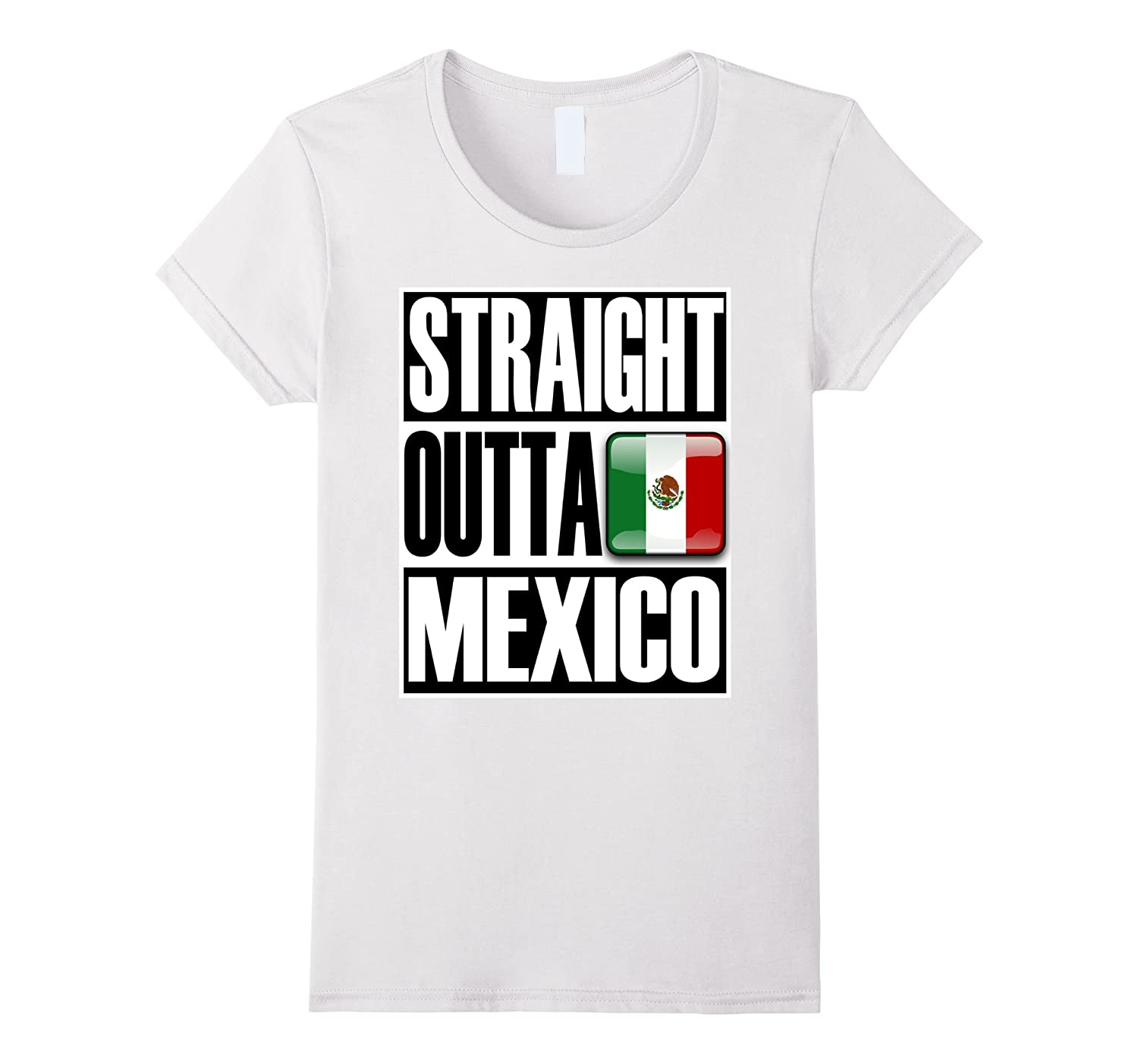 Storecastle Straight Outta Mexico Funny Gift T-Shirt