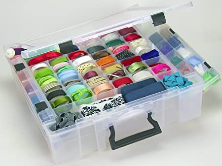 Beau KABOODLE PLUS, CLEAR STORAGE BOX REMOVABLE DIVIDERS, DIVIDED TRAY IN LID,  DEEP INTERNAL