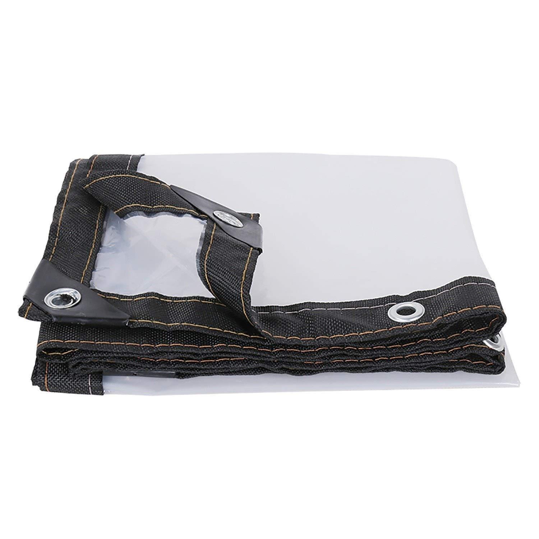 防雨防水シート 明確な透明な防水シート、グロメット/リバーシブルが付いている5ミルの厚い防水シートカバー防水陰の布の多防水シート (Color : Clear, Size : 3x10m) B07STD9TQ7 Clear 3x10m