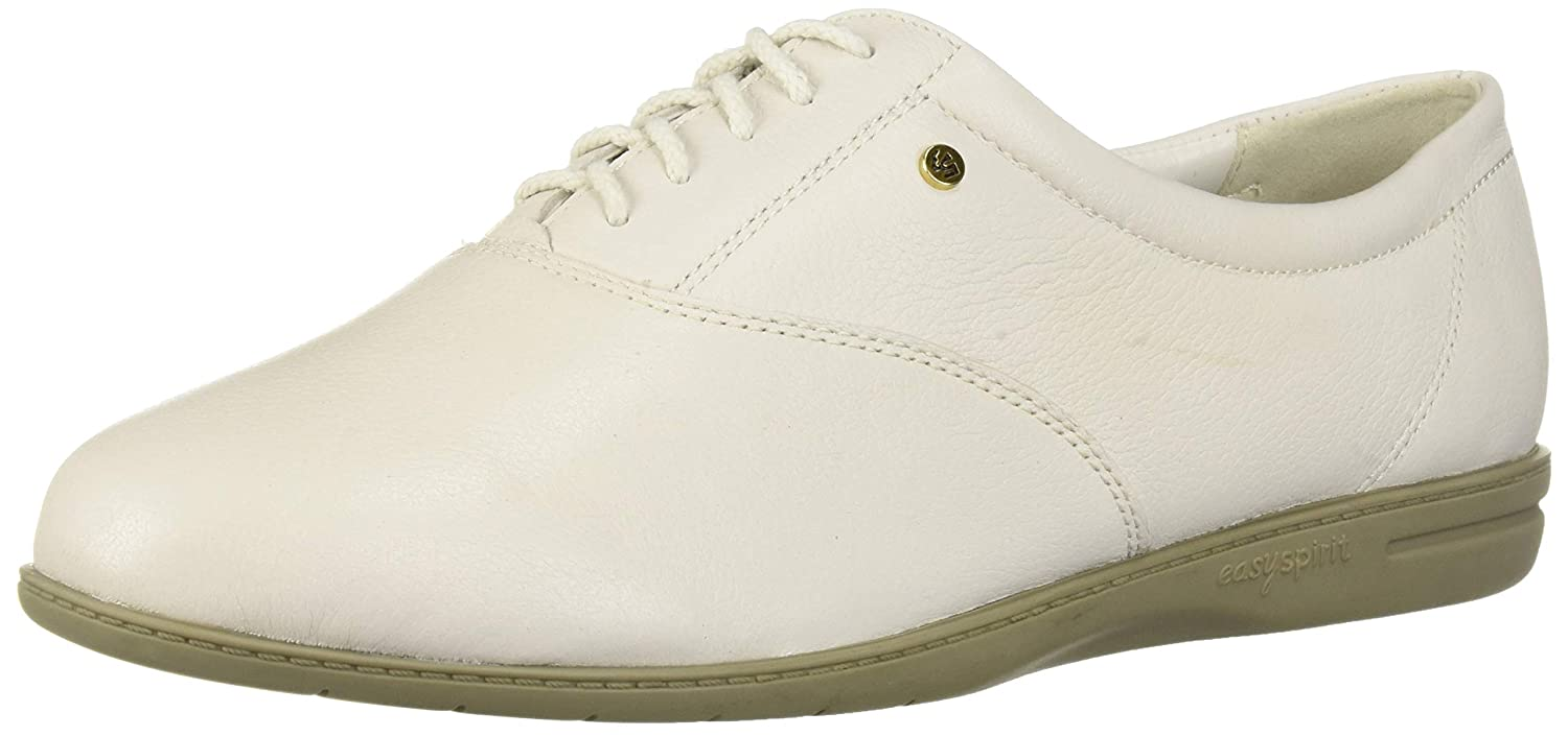White Leather Easy Spirit Women's Motion Sport Lace-Up Sneaker