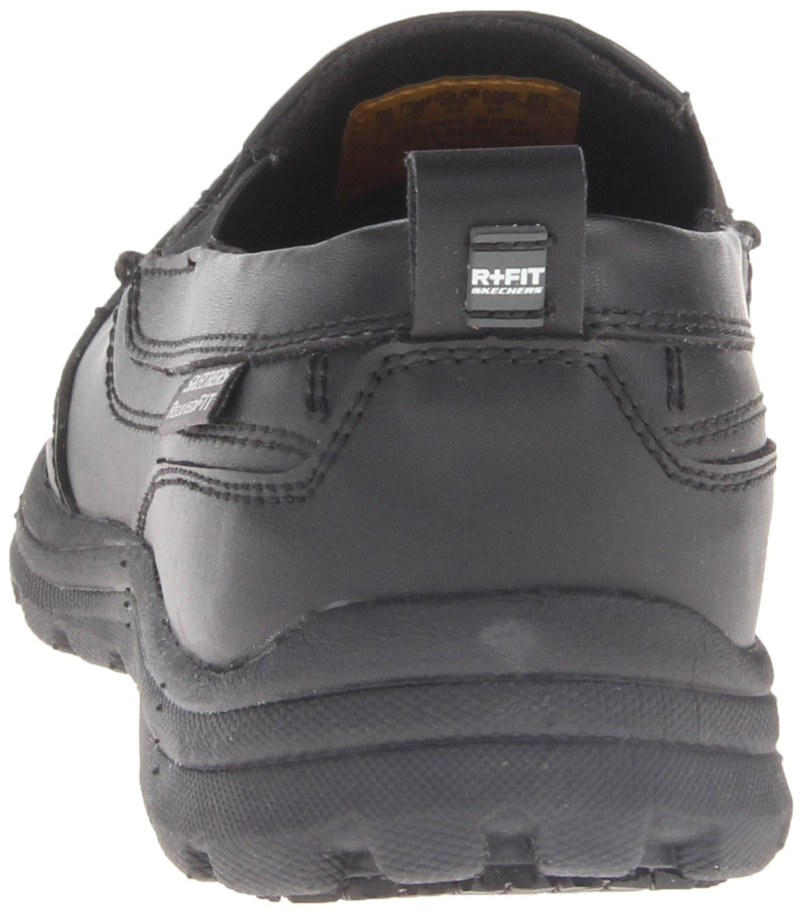 Skechers for Work Men's Hobbes Relaxed Fit Slip Resistant Work Shoe, Black, 11.5 M US by Skechers (Image #2)
