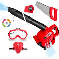 Toy Choi's STEM Kids Tools Set, Kids Power Tools Battery Operated Lawn Toy Leaf Blower Tools Set for Toddlers