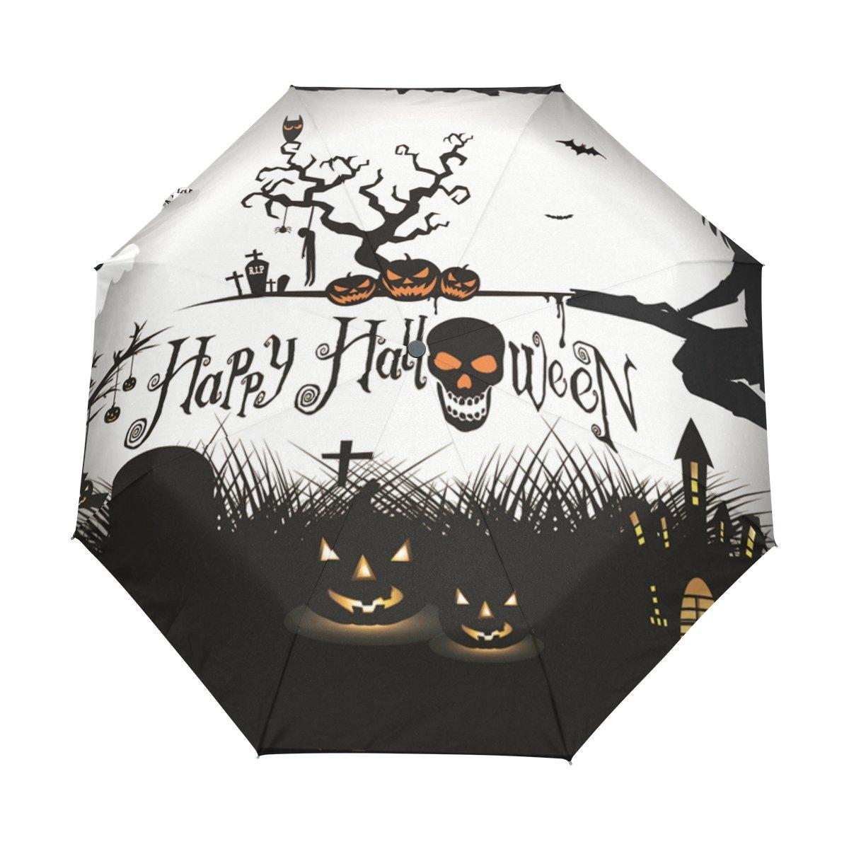 8b9301784b7b Amazon.com: DEYYA Windproof Travel Umbrella Golf Umbrella Halloween ...
