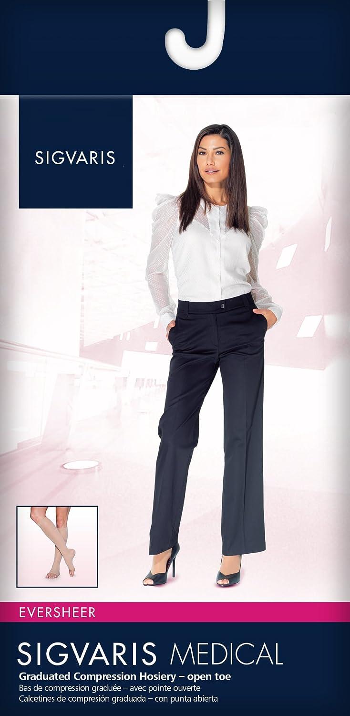 Amazon.com: SIGVARIS Womens EVERSHEER 780 Open Toe Calf Compression Socks 20-30mmHg: Health & Personal Care