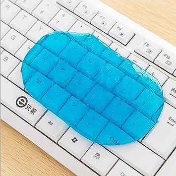 Red Simi - 4 limpiadores de teclado mágicos de gel para ordenador portátil, reutilizables, con pegamento suave y flexible: Amazon.es: Oficina y papelería