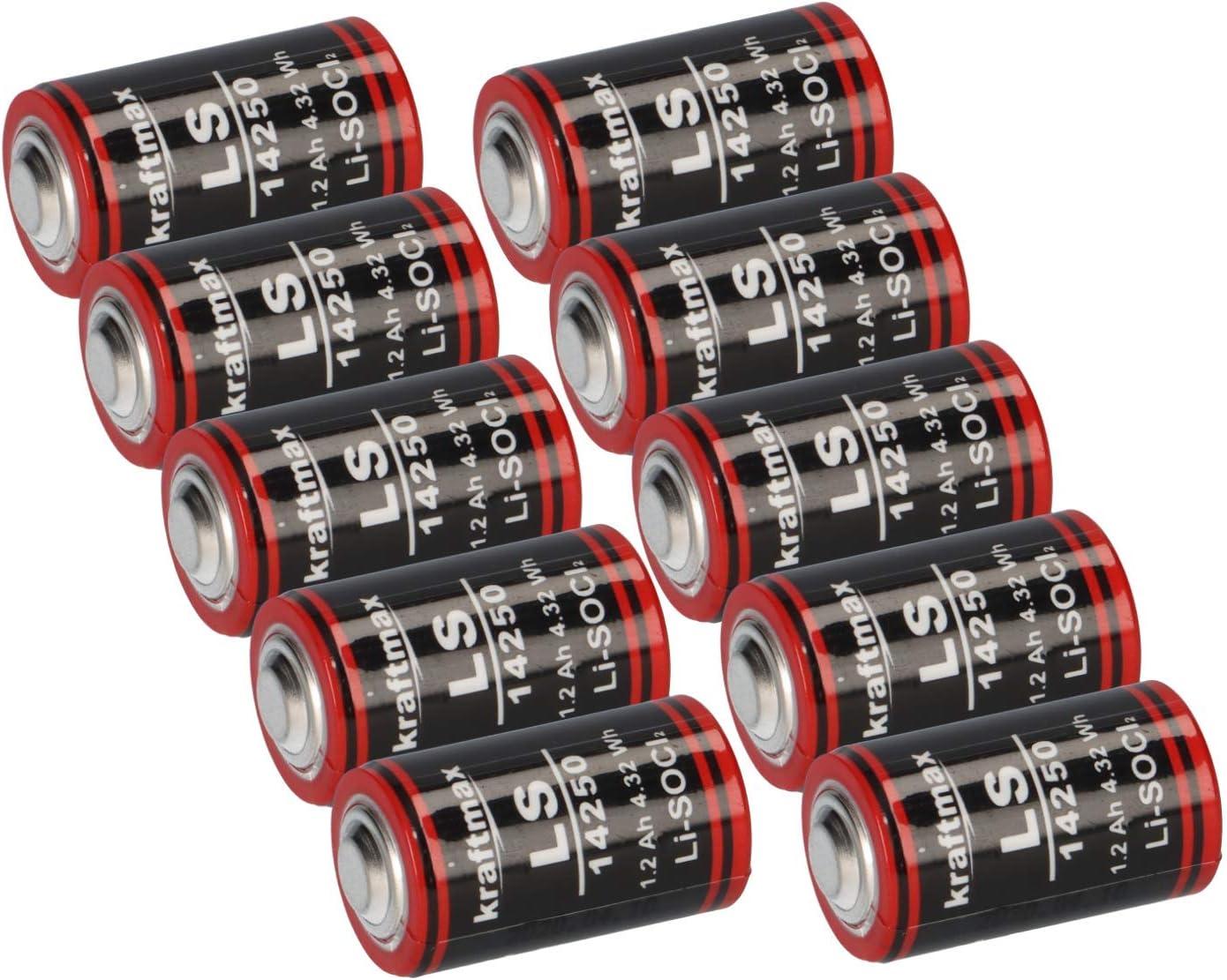 Lithium 3 6 V Battery Ls 14250 1 2 Aa Er14250 Li Socl2 Ls14250 Akkuman De Set