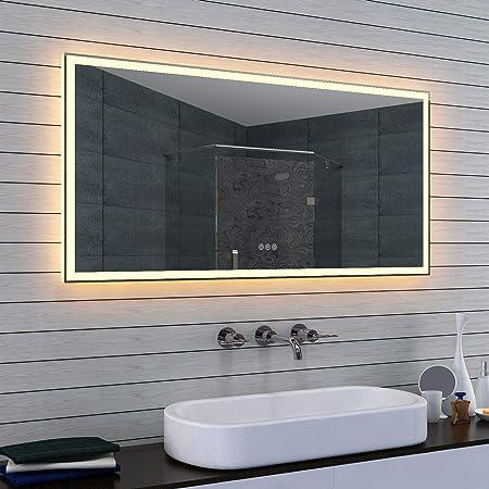 Lux Aqua Badspiegel Led Beleuchtung Kalt Und Warmlicht