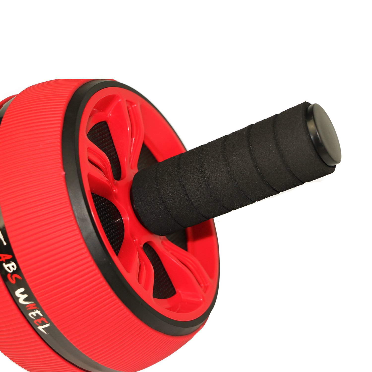 Muscles Trainier for Muscles Training Workout at Home or Gym Colors: Red Strength Improving Comfort Foam Handles Risefit Ab Roller Abdominal Exercise Wheel with Knee Pad