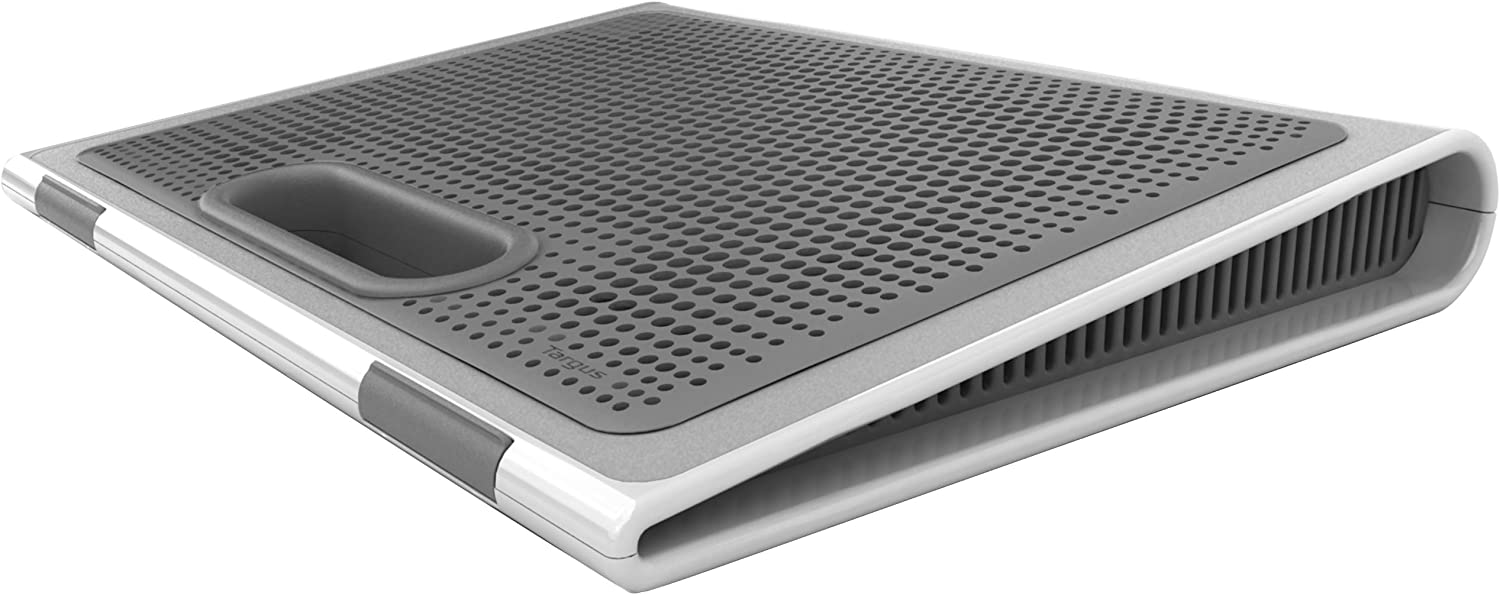 Targus Laptop Lap Desk Designed for 17-Inch Screen with Storage, Gray/White (AWE62US)