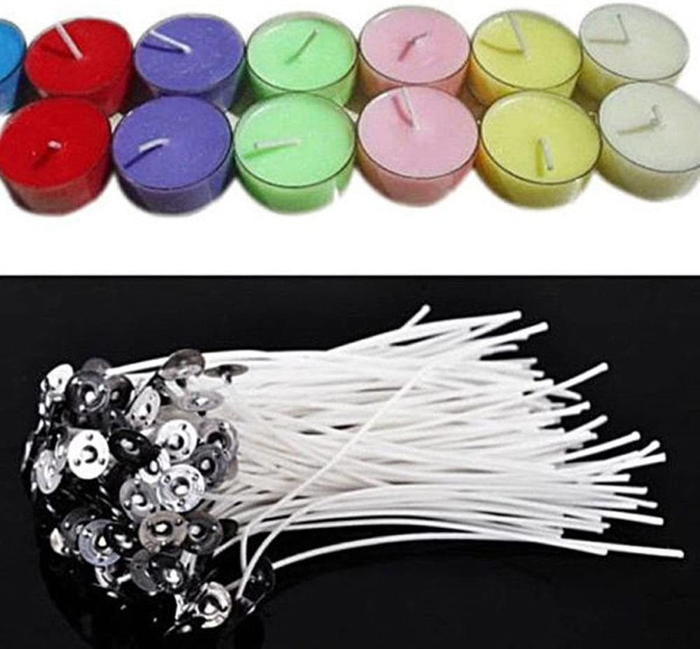 Hand LED-Licht Packen Sie 100 vorgewachste Kerzendochte f/ür die Kerzenherstellung mit 12 cm Langen Sustainern