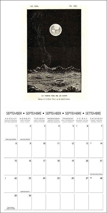 Amazon com : 2019 Moon Wall Calendar, Moon by Catch