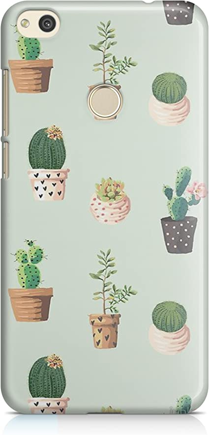 Cover Custodia per Huawei P8 Lite 2017 Vasi Cactus Green Verde Piante Tumblr Piante Grasse Verde Alberi
