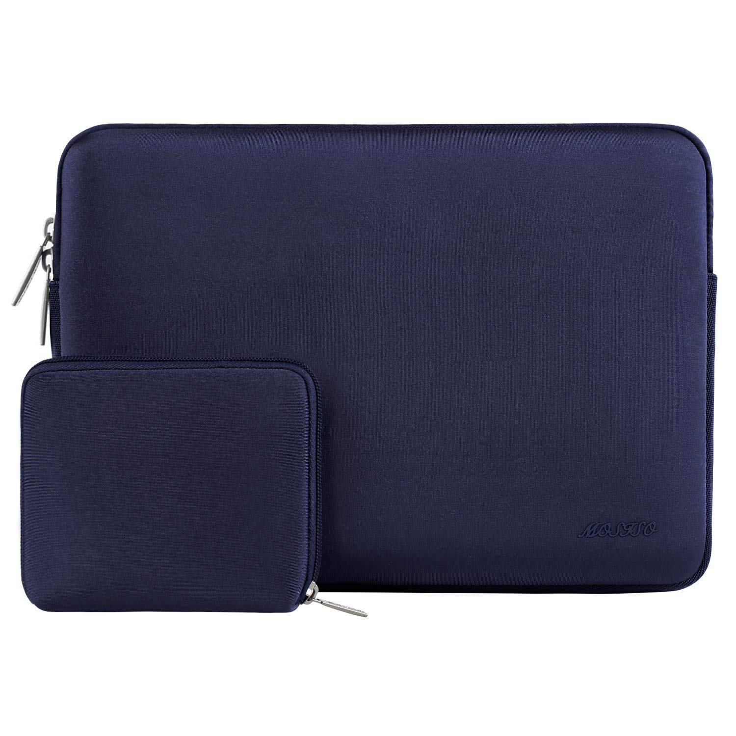 MOSISO Laptop Sleeve Compatible 2018 MacBook Air 13 A1932 Retina Display/MacBook Pro 13 A1989 A1706 A1708 USB-C 2018 2017 2016/Surface Pro 6,Water Repellent Neoprene Bag with Small Case,Navy Blue