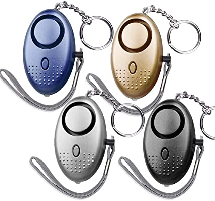Amazon Com Dland 130db Safesound Personal Alarm Set Of 4 Personal Security Alarm Keychains With Led Safty Light And Emergency Alarm Self Defense Electronic Device For Women Girls Elderly Safety Mixed Color Sports