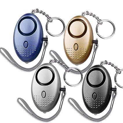Amazon.com: Dland 130dB SafeSound alarma Personal juego de 4 ...