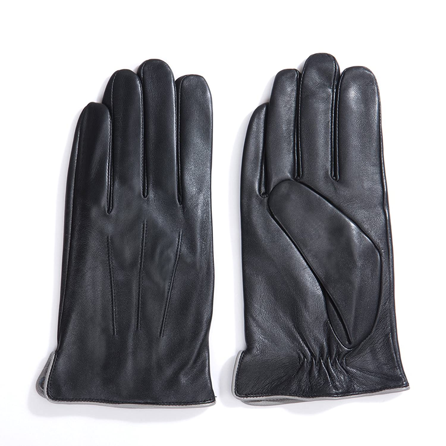 Mens leather gloves size 2x - Matsu Luxury Men Winter Warm Lambskin Leather Gloves M1006 S Black Long Fleece Or Cashmere Lining At Amazon Men S Clothing Store