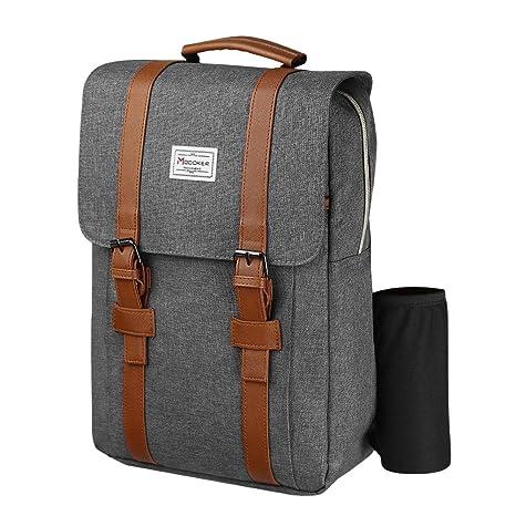 Modoker Slim Travel Backpack, Vintage Laptop Backpack Bag School College  Bookbag USB Charging Port Rucksack Fits 15 inch Laptop
