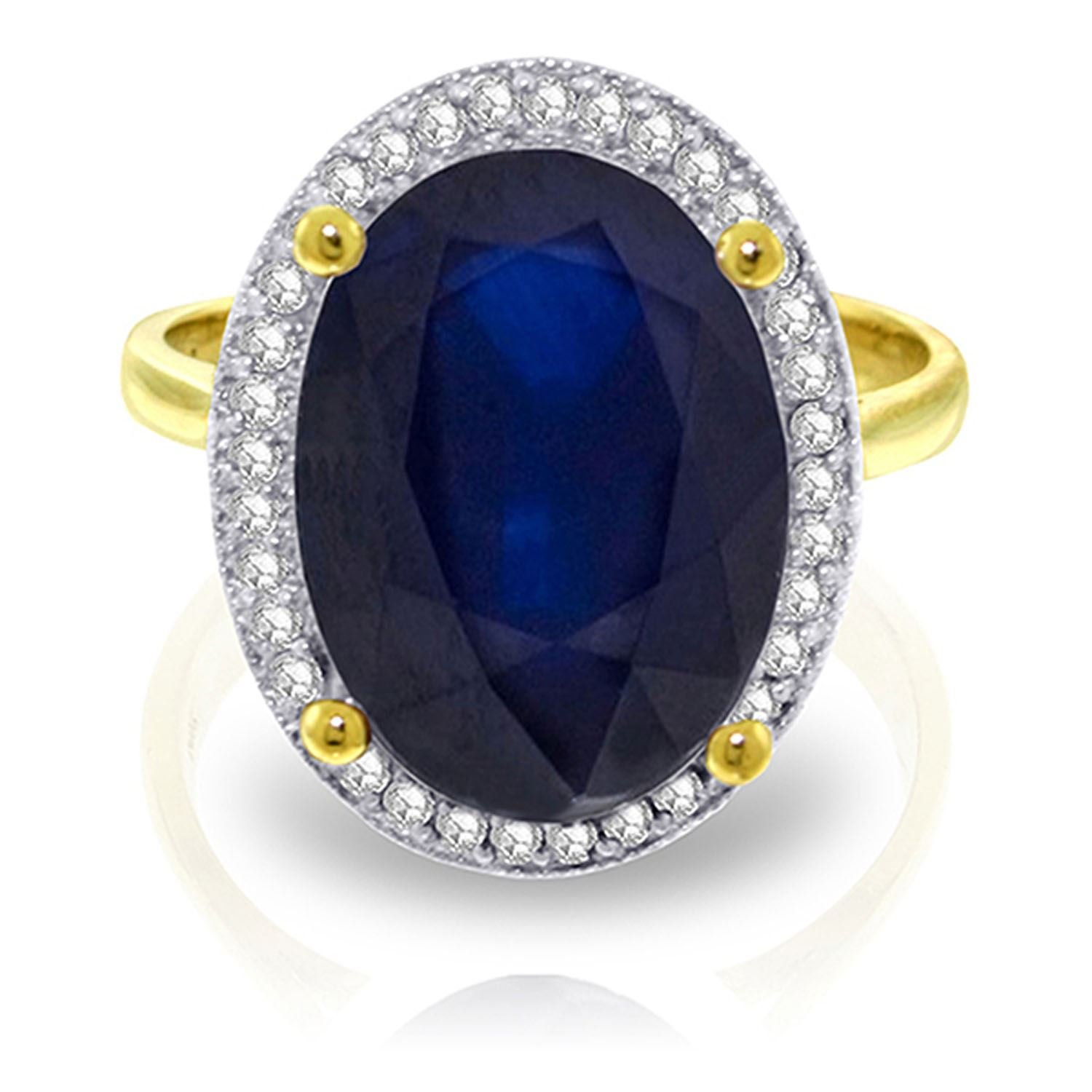 ALARRI 6.58 Carat 14K Solid Gold Love Doesn't Fluctuate Sapphire Diamond R With Ring Size 10