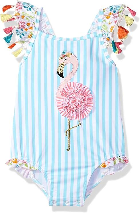 Mud Pie Tassel Flamingo Two-Piece Swuimsuit